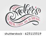 happy mother's day text as... | Shutterstock .eps vector #625115519