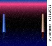 light swords on space... | Shutterstock .eps vector #625115711
