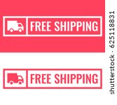 free shipping. badge with truck ... | Shutterstock .eps vector #625118831