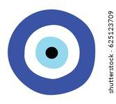 greek evil eye vector   symbol... | Shutterstock .eps vector #625123709