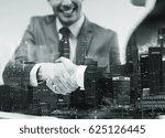 business  cooperation ... | Shutterstock . vector #625126445