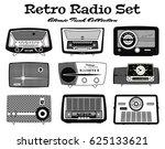 retro radio set | Shutterstock .eps vector #625133621