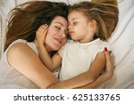 mother and daughter sleeping... | Shutterstock . vector #625133765