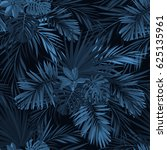 dark tropical background with... | Shutterstock . vector #625135961