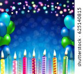 happy birthday banner  | Shutterstock . vector #625140815
