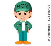 cute boy cartoon good posing | Shutterstock . vector #625146479