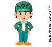 cute boy cartoon good posing   Shutterstock . vector #625146479