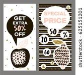 discount flyer template in... | Shutterstock .eps vector #625151201