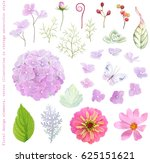collection vector flowers ... | Shutterstock .eps vector #625151621