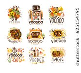 voodoo and magic set for label... | Shutterstock .eps vector #625154795