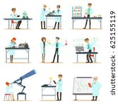 scientists at work in a lab and ... | Shutterstock .eps vector #625155119