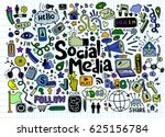 objects and symbols on the... | Shutterstock .eps vector #625156784