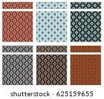 set of seamless geometric... | Shutterstock .eps vector #625159655