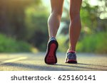 young fitness woman running on... | Shutterstock . vector #625160141