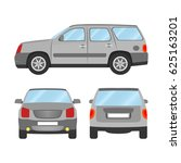 car vector template on white... | Shutterstock .eps vector #625163201