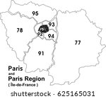 paris arrondissement map and... | Shutterstock .eps vector #625165031