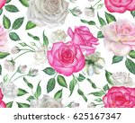 seamless floral pattern with... | Shutterstock . vector #625167347