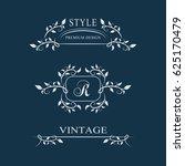 decorative floral vintage... | Shutterstock .eps vector #625170479