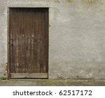 Old Brown Wooden Door Embedded...