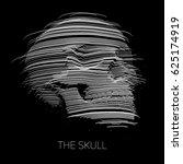 vector distorted skull... | Shutterstock .eps vector #625174919