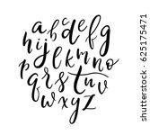 cute hand drawn alphabet.... | Shutterstock .eps vector #625175471
