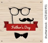 father's day vector greeting... | Shutterstock .eps vector #625181951