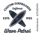 vintage surfing tee design.... | Shutterstock . vector #625183454