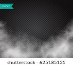 clouds or smoke vector on... | Shutterstock .eps vector #625185125