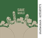 save the world background | Shutterstock .eps vector #625185971