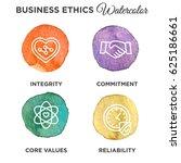 watercolor business ethics... | Shutterstock .eps vector #625186661