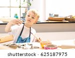 ceramic workshop for children.... | Shutterstock . vector #625187975