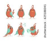 emotions bird. vector set of...