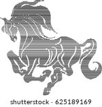 lined horse  object  is grouped. | Shutterstock .eps vector #625189169