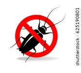 anti cockroach  vector sign for ... | Shutterstock .eps vector #625190801