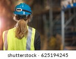 logistics employee in a large... | Shutterstock . vector #625194245
