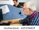 senior and junior men  work... | Shutterstock . vector #625196819