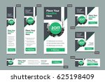 green color scheme with city... | Shutterstock .eps vector #625198409