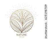 vector logo of floral element.... | Shutterstock .eps vector #625198709