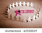 pink ribbon with word 'care'... | Shutterstock . vector #62520019