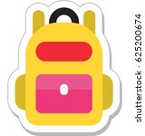 backpack vector icon | Shutterstock .eps vector #625200674