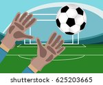 image of goalkeeper hands with...