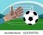 image of goalkeeper hand with...
