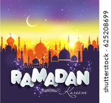 muslim abstract greeting...   Shutterstock .eps vector #625208699