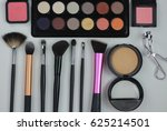 brush make up and colorful... | Shutterstock . vector #625214501
