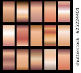 set of rose gold gradients.... | Shutterstock .eps vector #625224401