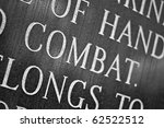 a closeup of the word combat... | Shutterstock . vector #62522512