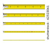 tape measure in inches. vector. | Shutterstock .eps vector #62523061