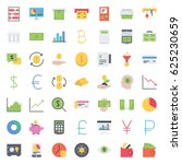finance icons | Shutterstock .eps vector #625230659
