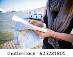 middle aged woman reading city... | Shutterstock . vector #625231805