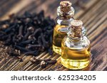 essential oil in glass bottle... | Shutterstock . vector #625234205